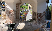 Obnova fasade na cerkvi Slovenske Konjice